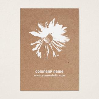 Modern Elegant Kraft Paper Floral Event Planner Business Card
