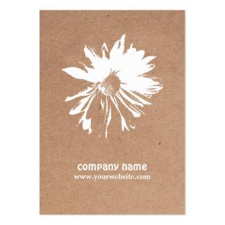 Modern Elegant Kraft Paper Floral Event Planner Large Business Card