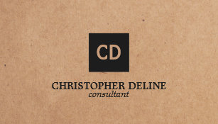 Recycling business cards templates zazzle modern elegant kraft paper monogram consultant business card reheart Image collections