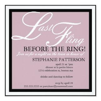 Modern & Elegant Last Fling Bachelorette Party Card