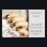 "modern elegant manicure nails nail salon flyer<br><div class=""desc"">modern elegant manicure nails nail salon business card template. Chic Nail artist business cards.</div>"