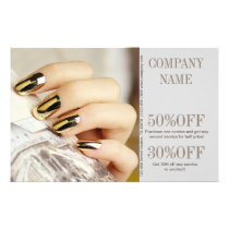 modern elegant manicure nails nail salon flyer