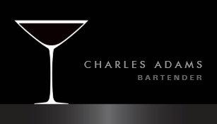 Bartender business cards templates zazzle modern elegant martini cocktail glass bartender business card colourmoves