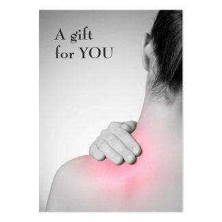 Modern Elegant Massage Therapist Gift Certificate Large Business Card