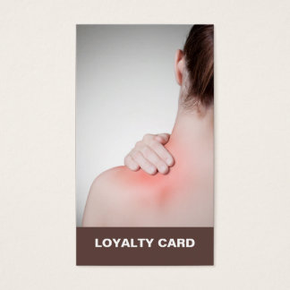 Modern Elegant Massage Therapist Loyalty Card