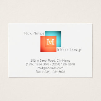 Modern elegant minimal style with monogram business card