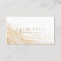 Modern Elegant Minimal Wedding Event Planner Business Card