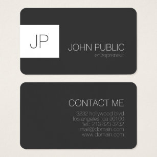 Round business cards templates zazzle modern elegant minimalist rounded corners business card flashek Image collections