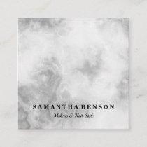 Modern Elegant Modern White Marble Professional Square Business Card