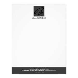Modern & Elegant Monogram Business Letterhead