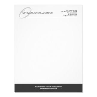 Modern & Elegant Monogram Custom Letterhead