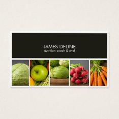 Modern Elegant Nutritionist Chef Business Card at Zazzle