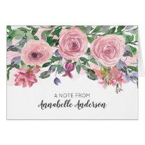 Modern Elegant Pastel Blush Pink Floral Watercolor