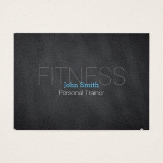 Modern Elegant Personal Fitness Trainer Chalkboard Business Card