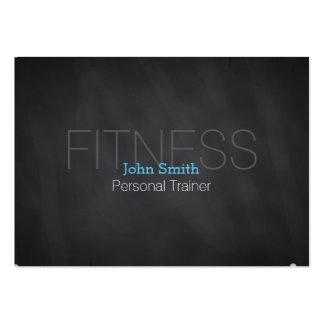 Modern Elegant Personal Fitness Trainer Chalkboard Large Business Card