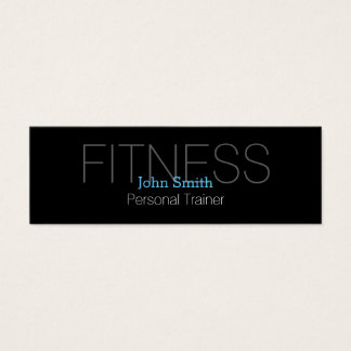 Modern Elegant Personal Fitness Trainer Mini Business Card