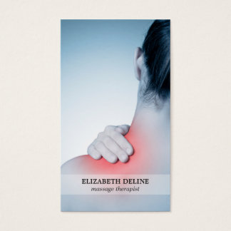 Modern Elegant Photo Massage Therapist Business Card