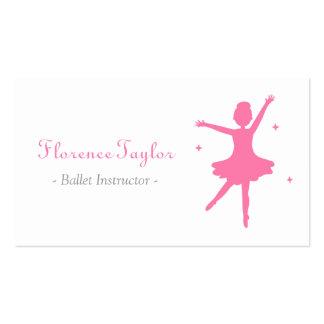 Modern, Elegant, Pink Ballet Instructor Double-Sided Standard Business Cards (Pack Of 100)