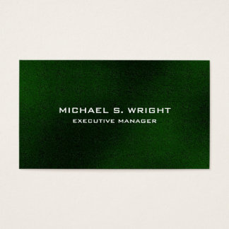 Modern Elegant Plain Green Professional Business Card