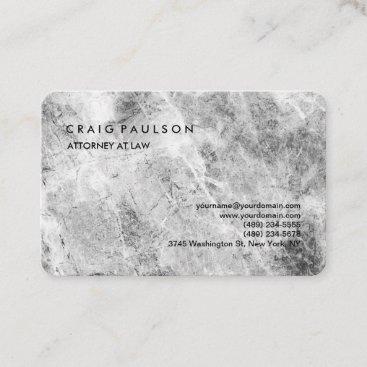 Modern Elegant Plain Professional Grey Wall Business Card