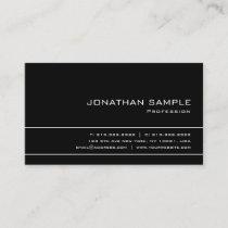 Modern Elegant Professional B&W Simple Plain Business Card