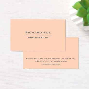 Professional Business Modern Elegant Professional Orange Business Cards