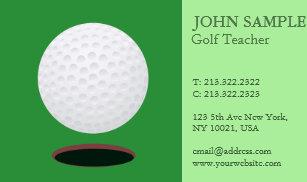 Modern golf business cards zazzle modern elegant professional simple design golf business card colourmoves