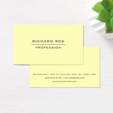 Professional Business Modern Elegant Professional Yellow Business Cards
