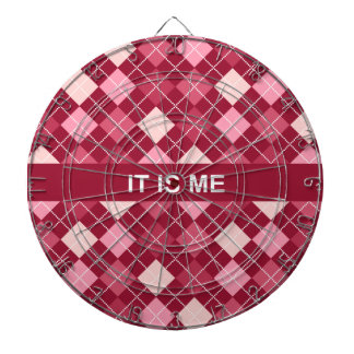 Modern Elegant Red Pattern Dart Board