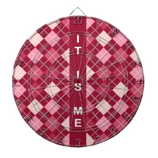 Modern Elegant Red Pattern Dartboards