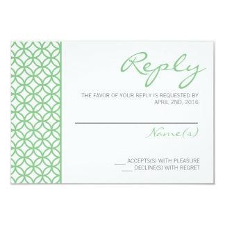 Modern Elegant Reply Card