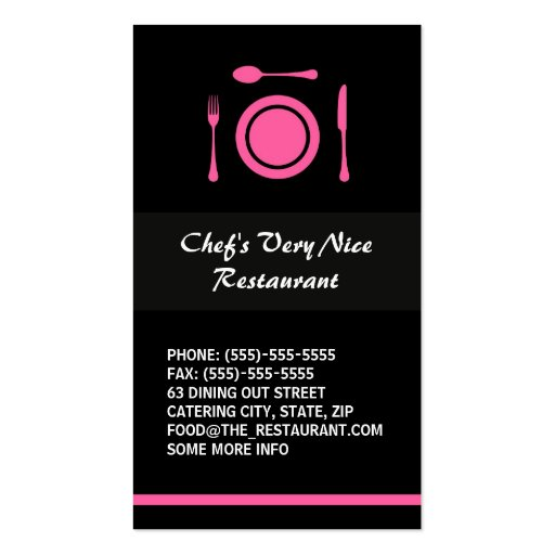 Catering business card business card templates page12 bizcardstudio modern elegant restaurant or catering business cards accmission Gallery