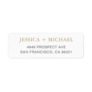 Modern Elegant Return Address Label