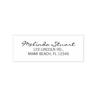Modern Elegant Return Address Rubber Stamp