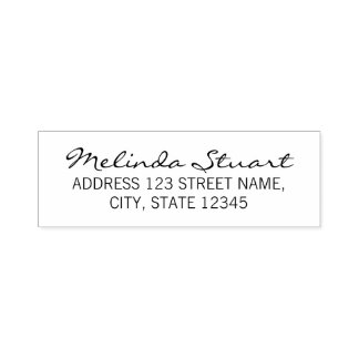 Modern Elegant Return Address Self-inking Stamp