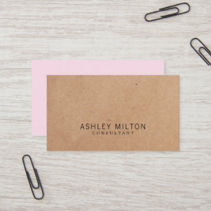 Consultant business cards zazzle modern elegant rose printed kraft paper consultant business card colourmoves