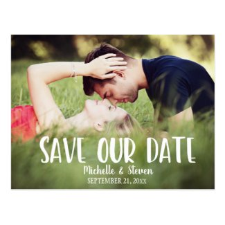 Modern Elegant Save our Date Postcard