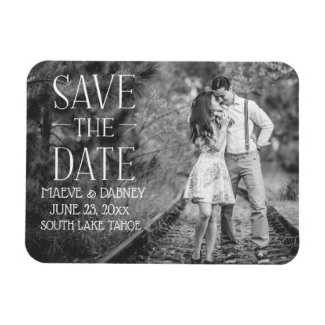 Modern Elegant Save the Date Magnet