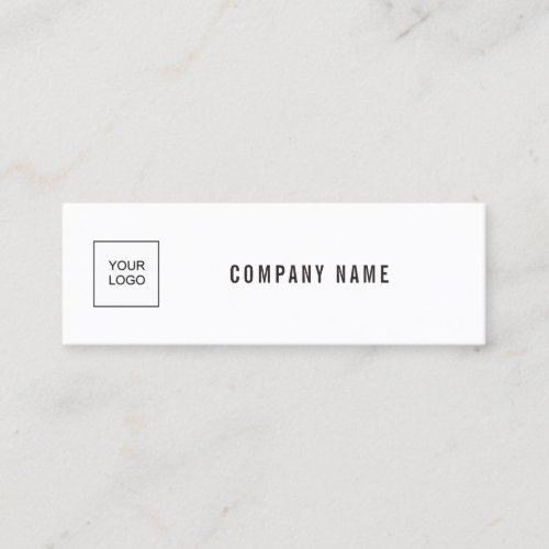 Modern Elegant Simple Plain Add Your Logo Company Mini Business Card
