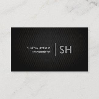 Modern Elegant Simple Plain Black Sleek Business Card