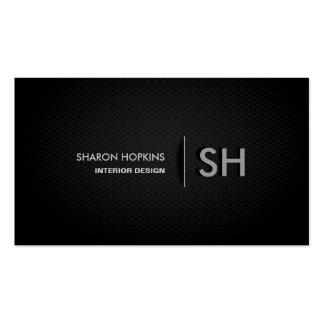 Modern Elegant Simple Plain Black Sleek Double-Sided Standard Business Cards (Pack Of 100)