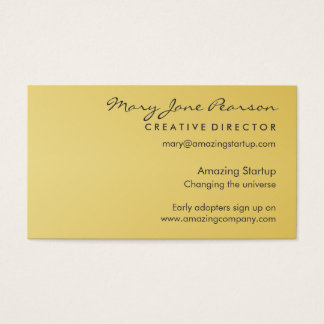 Modern, Elegant & Simple Startup with Luxury Gold Business Card
