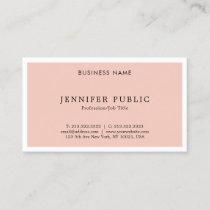 Modern Elegant Sleek Plain Trendy Design Top Business Card