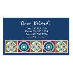 Modern Elegant Spanish Tile Business Card