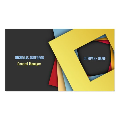 Modern elegant square shapes business card zazzle for Business cards shapes
