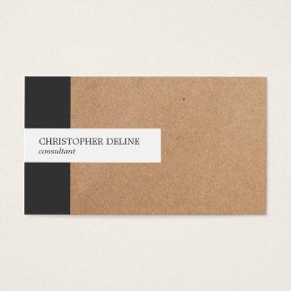 Modern Elegant Stripe Kraft Paper Consultant Business Card