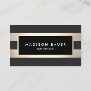 Black And Gold Business Cards Zazzle