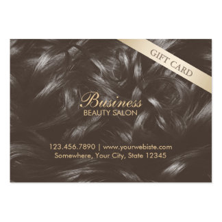 Modern Elegant Tan Hair Beauty Gift Certificates Large Business Cards (Pack Of 100)