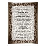 Modern Elegant Taupe Leopard Print Wedding 5x7 Paper Invitation Card