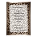Modern Elegant Taupe Leopard Print Wedding Invites